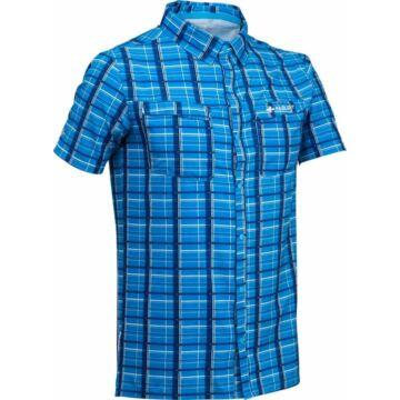 RaidLight MEN'S TRAIL SHIRT - kék kockás, férfi sporting