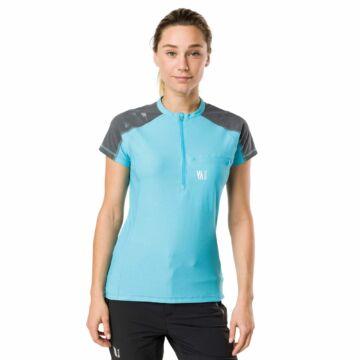 Vertical TECHNICAL SHORT SLEEVE TOP - kék, női rövidujjú sportfelső