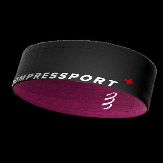 Compressport Free Belt fekete-lila sportöv, futóöv XS/S