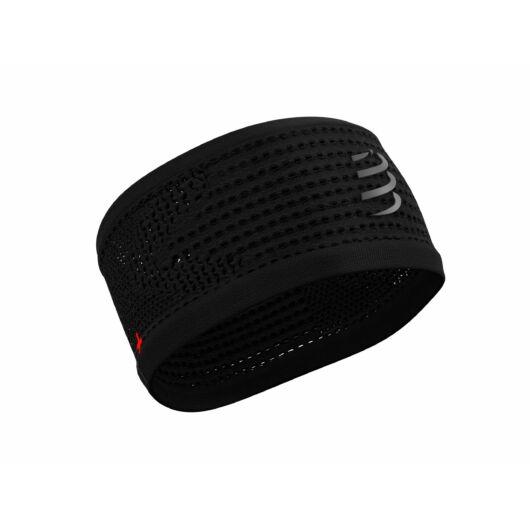 Compressport Headband FLASH - fekete fejpánt fényvisszaverős logóval