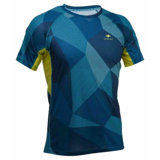 RaidLight TECHNICAL MEN'S SHORT-SLEEVED TOP - kék mintás, férfi rövidujjú sportfelső S