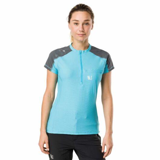 Vertical TECHNICAL SHORT SLEEVE TOP - kék, női rövidujjú sportfelső S
