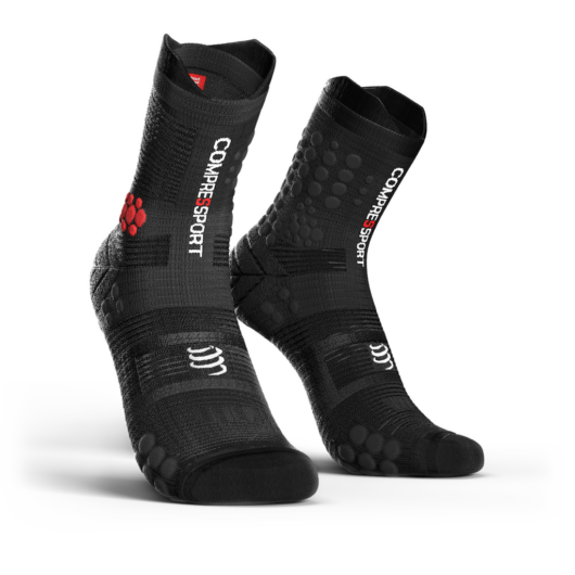 Compressport Pro Racing Socks v3.0 Trail fekete terepfutó zokni T2