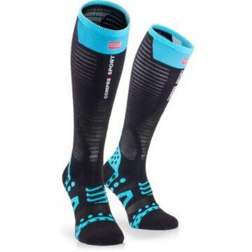 Compressport Full Socks UltraLight fekete kompressziós térdzokni