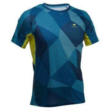 RaidLight TECHNICAL MEN'S SHORT-SLEEVED TOP - kék mintás, férfi rövidujjú sportfelső