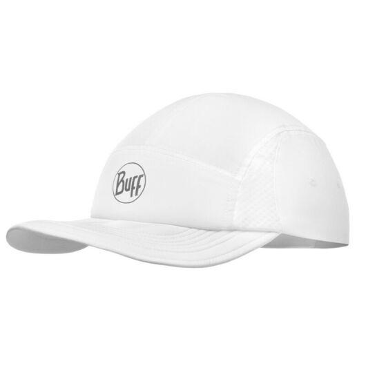 BUFF® Run Cap Solid fehér sportsapka L/XL