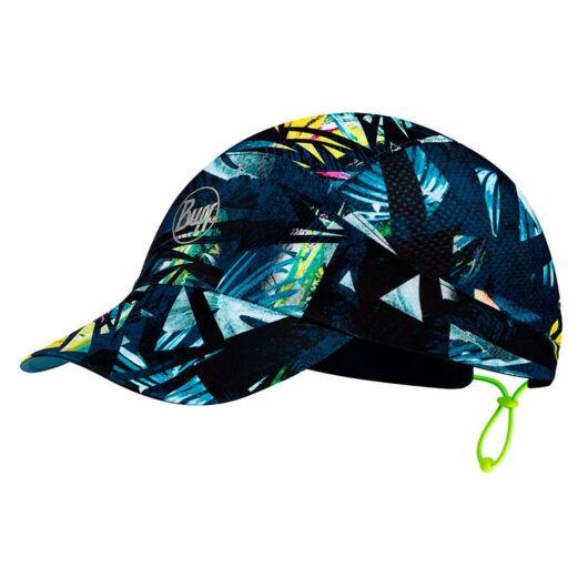 BUFF® Pack Run Cap Patterned Ipe Navy - tengerészkék alapon mintás sportsapka L/XL
