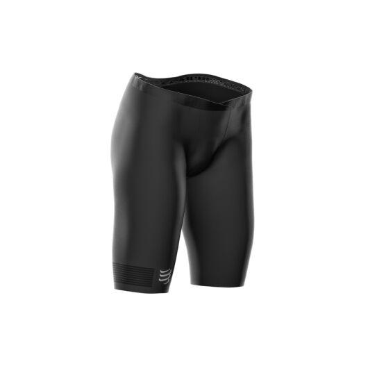 Compressport Running Under Control Short - fekete női kompressziós sportnadrág S