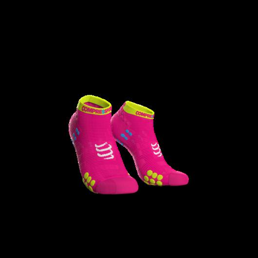 Compressport Pro Racing Socks v3.0 Run pink titokzokni T3