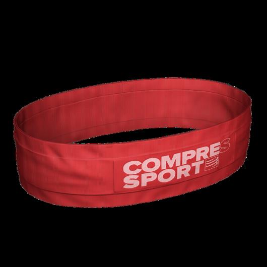 Compressport Free Belt piros sportöv, futóöv XS/S